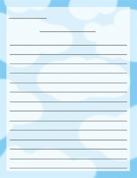 Cloud Stationery Set