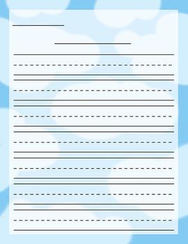 Cloud Stationery Set