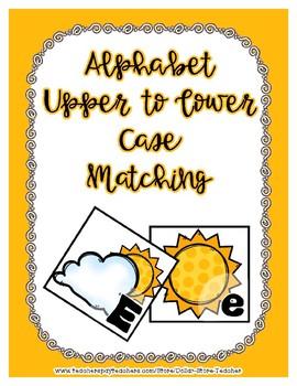Cloud & Sun Upper / Lower Case Alphabet Match