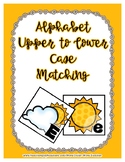 Cloud & Sun Upper / Lower Case Alphabet Match