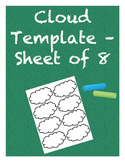 Cloud Template - Sheet of 8