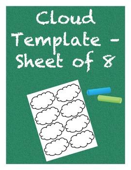 Cloud Template - Sheet of 8