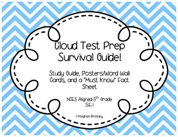 Cloud Test Prep Packet and Study Guide- NCES Aligned 5.E.1