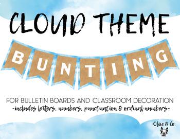 Cloud Theme Bulletin Board Banner - White