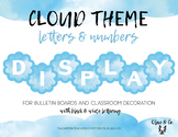 Cloud Theme Bulletin Board Letters and Numbers