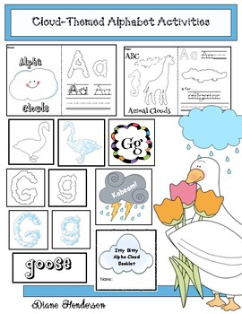"Cloud-Themed Alphabet Activities Perfect For ""It Looked Like Spilt Milk"" Story"