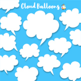 Cloud Thinking Speaking Balloon Clipart