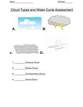 Cloud Type and Water cycle  Assessment