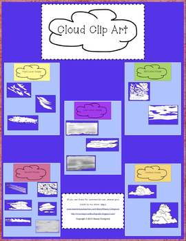 Cloud Types Clip Art for Personal or Commercial Use