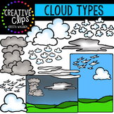 Cloud Types Clipart {Creative Clips Clipart}