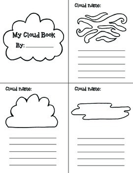 Cloud Types Lesson and Book Activity Bundle