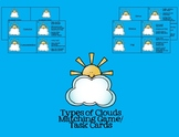 Cloud Types Matching Game Task Cards