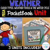 Cloud Types, Water Cycle, Weather Tools BUNDLE Research Unit and 3 PowerPoints