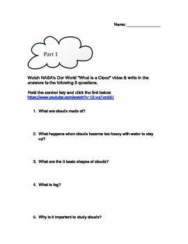 Cloud Types Webquest
