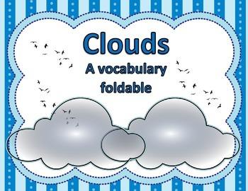 Cloud Vocabulary Foldable