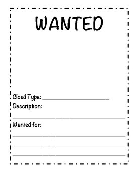 Cloud Wanted Poster