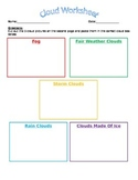 Cloud Worksheet (Goes Along With Weather PowerPoint)