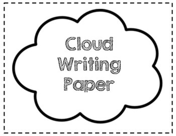 Cloud Writing Paper