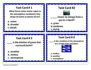 Cloud and Precipitation TASK CARDS