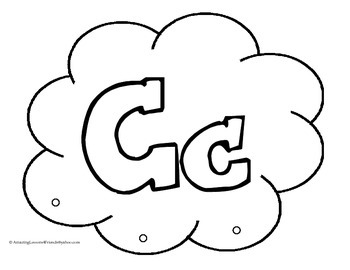 Cloud and Raindrops Alphabet Arts and Crafts