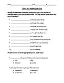 Cloud and Water Cycle Quiz