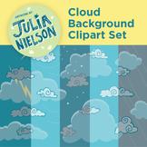 Cloud background clipart set