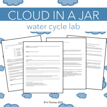 Cloud in a Jar Lab Activity