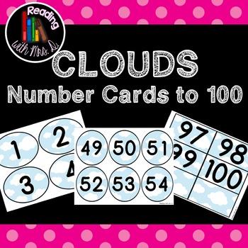 Cloud or Superhero Number cards