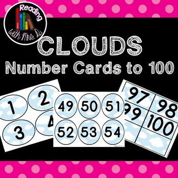 Cloud or Superhero Number cards