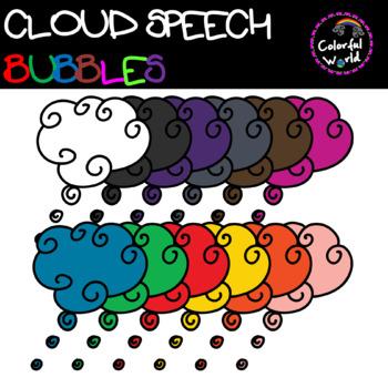 Cloud speech bubbles