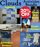 Types of Clouds Activities: Poster, Foldable, Science Experiment (Weather Unit)