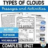 Clouds - Types of Clouds Unit & Flip Book