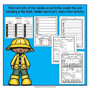 All About Clouds: Types of Clouds Activities & Flip Book for Science Centers