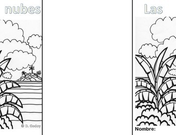 Clouds: A vocabulary foldable (spanish version)