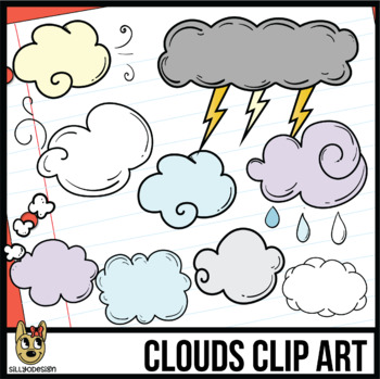 Clouds Clip Art By Sillyodesign
