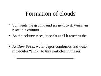 Clouds Cloze