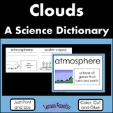 Clouds Color, Cut and Glue Science Dictionary