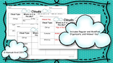 Clouds Graphic Organizer Regular and Modified with Answer Key