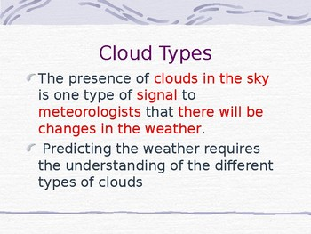 Clouds Lesson