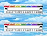 Clouds Desk Name Tag Plates Set
