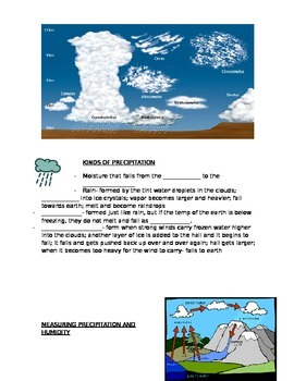 Clouds Notes- Scott Foresman Science- Weather Lesson 3