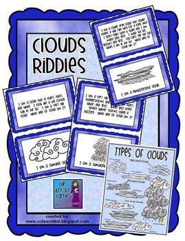 Clouds Riddles and Types of Clouds Poster