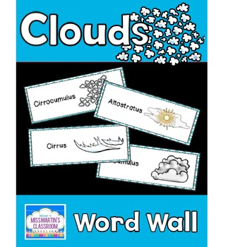 Clouds: Science Vocabulary Word Wall