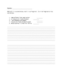 Clouds Sentence and Fragment Activity- Scholastic extension activity