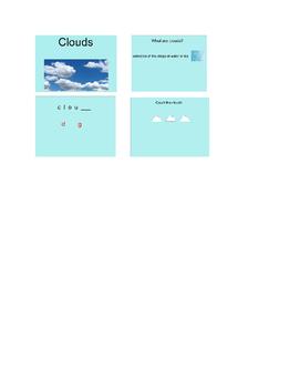 Clouds - Special Education/K-2 SmartBoard