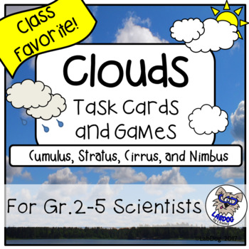 Clouds : Task Cards, Games, and Center