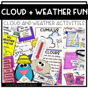 Clouds Weather Activities, Water Cycle, Weather Tools