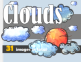 Clouds, Weather, Clipart, Images, Water color, hand-drawn