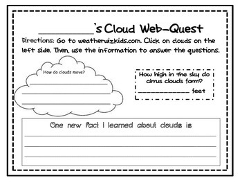 Clouds Webquest