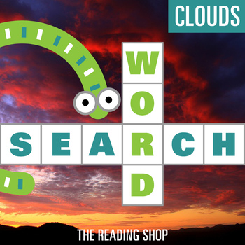Clouds Word Search - Primary Grades - Wordsearch Puzzle